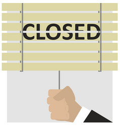 Close the blinds end of work vector