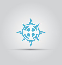 compass isolated abstract logo vector image vector image