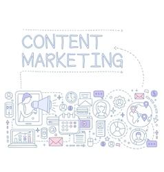 Content marketing infographics vector
