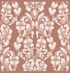 damask seamless pattern element classical luxury vector image