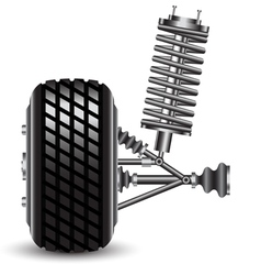 Front car suspension frontal view vector image vector image