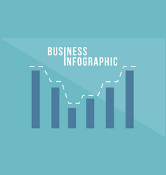 Graph business data concept style vector