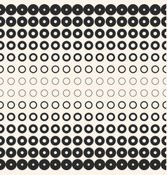halftone circles and rings monochrome background vector image
