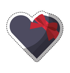 heart giftbox present isolated icon vector image vector image