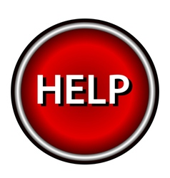 Help icon vector image vector image