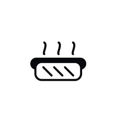 isolated food icon hot dog element can be vector image vector image