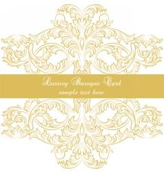 Luxury Baroque Ornamented card vector image vector image