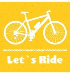 Minimalistic bike poster let s ride black vector
