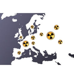 nuclear radiation europe vector image