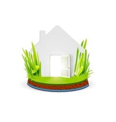 Paper home with open door vector image vector image