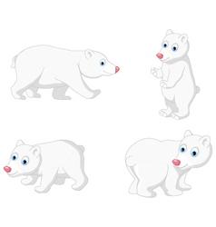 polar bear cartoon collection vector image vector image