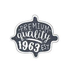 Premium quality clothing vintage emblem vector