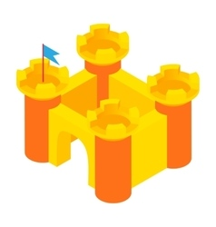 Toy castle icon cartoon style vector image