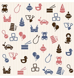 Toy seamless pattern vector image
