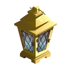 Vintage yellow street lamp isolated vector image vector image