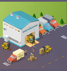 Warehouse vector image