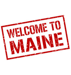 Welcome to maine stamp vector
