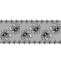 Decorative flower lacy border vector
