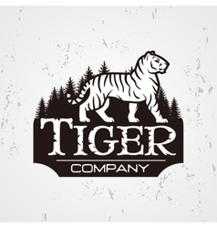 Bengal tiger in forest logo  mascot shirt vector