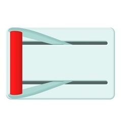 Metal lever of inclusion icon cartoon style vector