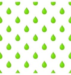 Green drop pattern cartoon style vector image