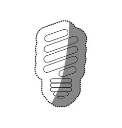 Abstract silhouette sticker of fluorescent light vector