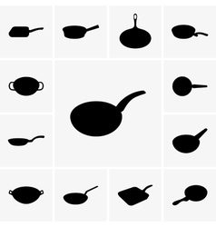 Frying pans vector