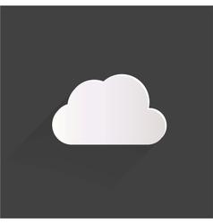 Cloud application web icon vector image