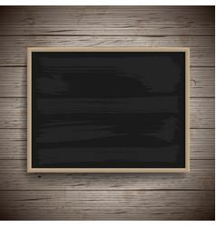 Blank vintage chalk board background vector