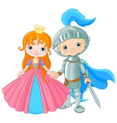 Medieval Lady and Knight vector image
