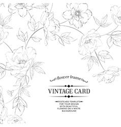 Design of vintage floral card vector image
