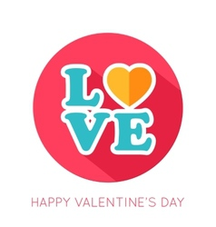 Valentines day flat isolated icon vector