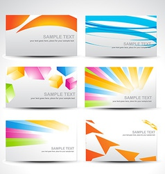Business colorful cards vector