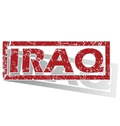 Iraq outlined stamp vector