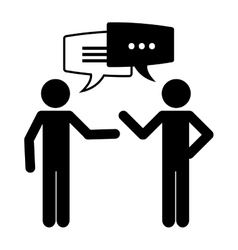 Conversation icons design vector image