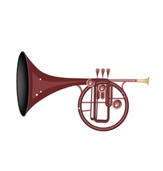 A musical straight mellophone vector