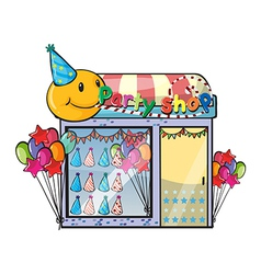 A party shop vector image vector image