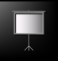 Blank projection screen gray 3d printed vector