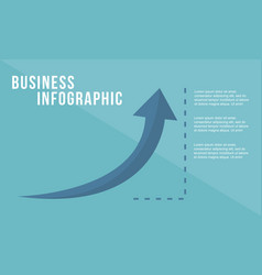 Business growth arrow design style vector