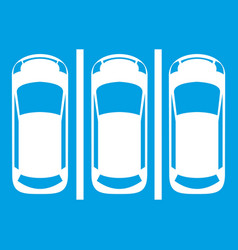 Car parking icon white vector
