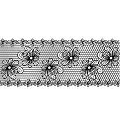 Decorative flower lacy border vector