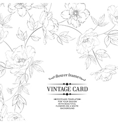 Design of vintage floral card vector image