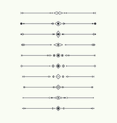 dividers set isolated vector image vector image