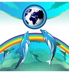 eco earth clean water vector image vector image