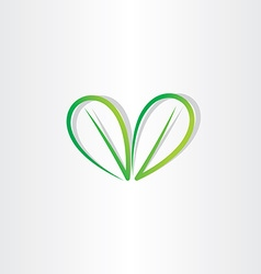 eco green leaf sign vector image
