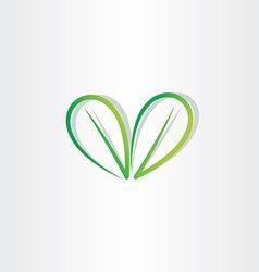 Eco green leaf sign vector