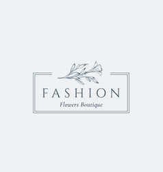 Fashion flowers boutique abstract sign vector