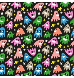 funny ghosts - seamless background vector image vector image