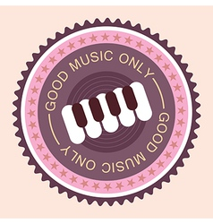 good music with piano vector image