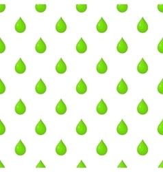Green drop pattern cartoon style vector image